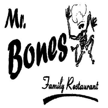 Mr Bones Restaurant Menu